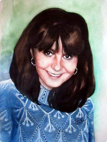 Портрет для моей постоянной заказчицы, красивой и очень приятной женщины! Акварель. Формат А3 фото 1