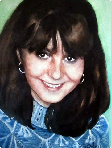Портрет для моей постоянной заказчицы, красивой и очень приятной женщины! Акварель. Формат А3 фото 4