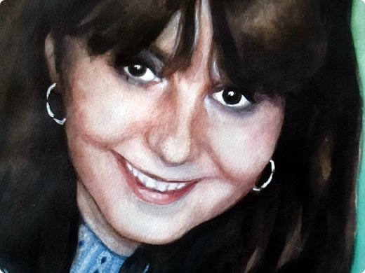 Портрет для моей постоянной заказчицы, красивой и очень приятной женщины! Акварель. Формат А3 фото 6
