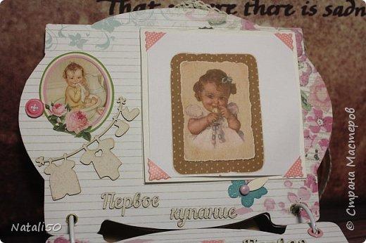 Доброго всем дня!! Через два дня моей внучке Анютке будет 3 месяца!  Фотографии собираются,давно я хотела сделать альбомчик..но так и оставалось в задумках.  Но вот и я решилась..не судите строго..моя первая работа.. фото 5