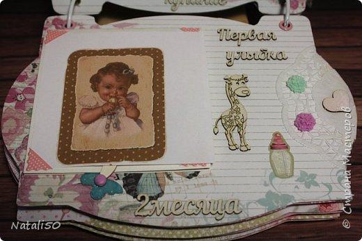 Доброго всем дня!! Через два дня моей внучке Анютке будет 3 месяца!  Фотографии собираются,давно я хотела сделать альбомчик..но так и оставалось в задумках.  Но вот и я решилась..не судите строго..моя первая работа.. фото 6