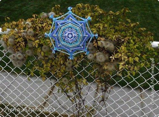 Хочу показать новую мандалу в синих тонах которую я сплела в пару к картине... фото 6