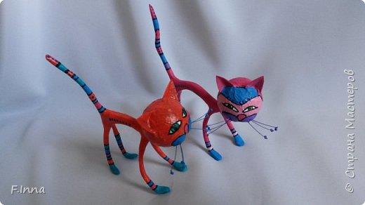 И ещё минуточку внимания.Вот такие интерьерные котики у меня получились для девушки любительнице кошачьих в её коллекцию. фото 1