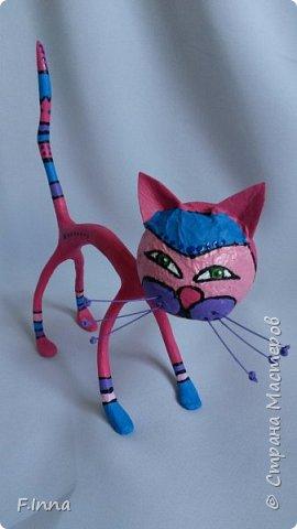 И ещё минуточку внимания.Вот такие интерьерные котики у меня получились для девушки любительнице кошачьих в её коллекцию. фото 3