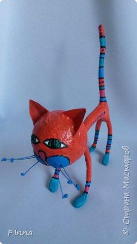 И ещё минуточку внимания.Вот такие интерьерные котики у меня получились для девушки любительнице кошачьих в её коллекцию. фото 5