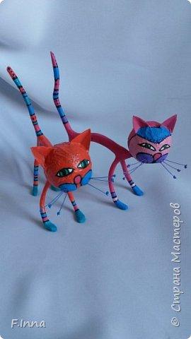 И ещё минуточку внимания.Вот такие интерьерные котики у меня получились для девушки любительнице кошачьих в её коллекцию. фото 2