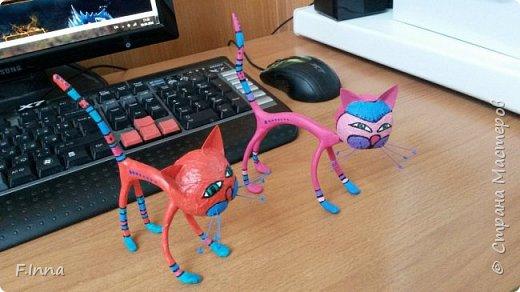 И ещё минуточку внимания.Вот такие интерьерные котики у меня получились для девушки любительнице кошачьих в её коллекцию. фото 7