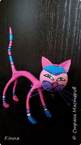 И ещё минуточку внимания.Вот такие интерьерные котики у меня получились для девушки любительнице кошачьих в её коллекцию. фото 4