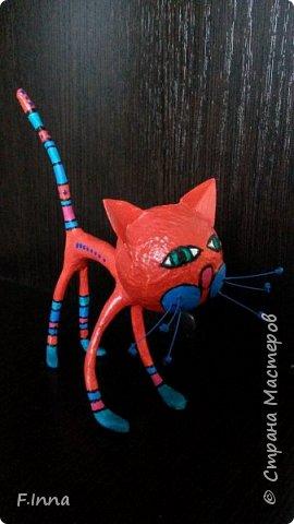 И ещё минуточку внимания.Вот такие интерьерные котики у меня получились для девушки любительнице кошачьих в её коллекцию. фото 6