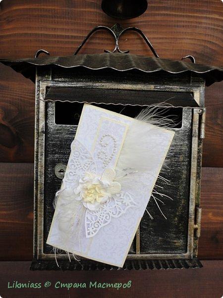 Иногда так хочется запечатать душу в конверт, пусть бы полежала, подумала, отдохнула, не тревожилась. А ведь нет, не получается. бедолага просто работает без выходных и без сна. Это я так, лирическое отступление. На самом деле у меня для вас конверты свадебные и просто.  фото 13