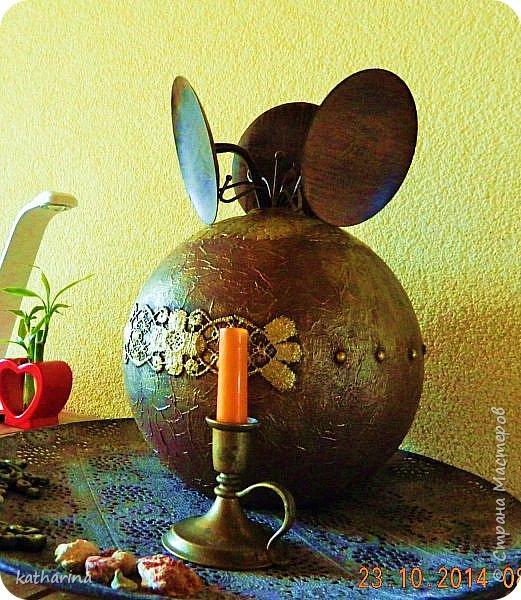 Нашла круглый стеклянный шар, ну и фантазия заработала. фото 2