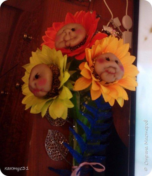 У замечательной девушки Натальи, случился ДР. И мы , как люди креативные (на всю головушку) решили сходить не в цветочный магазин, а в ближайший фикс прайс... купили подсолнухов и давай их переделывать... фото 1