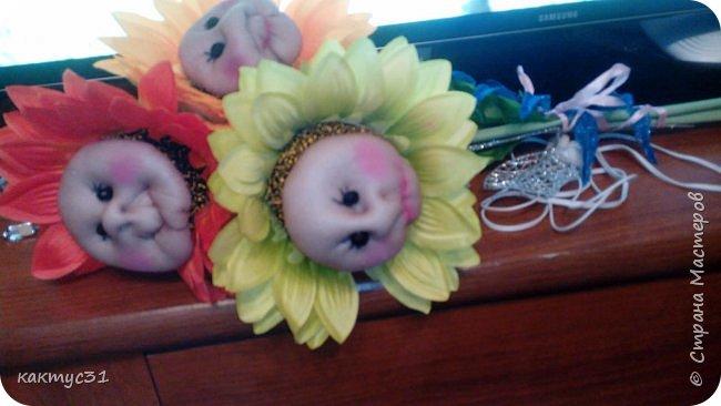 У замечательной девушки Натальи, случился ДР. И мы , как люди креативные (на всю головушку) решили сходить не в цветочный магазин, а в ближайший фикс прайс... купили подсолнухов и давай их переделывать... фото 2