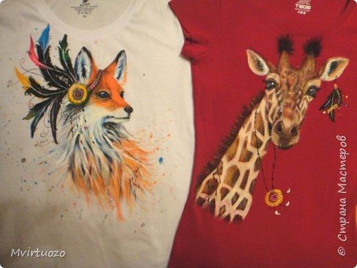 Здравствуйте, мои дорогие! И снова выношу на ваш суд футболочки для мамы и дочки - постаралась в одном этно-стиле.. фото 1