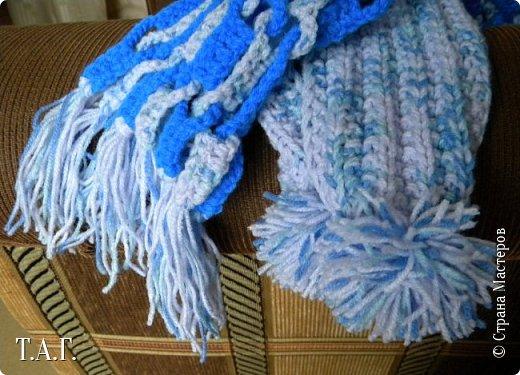 Скоро зима... На улице становится прохладно.  Внуку нужен шарф. фото 12