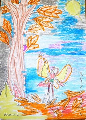 Осень - фея. Работа Кати, ученицы 2 класса фото 2