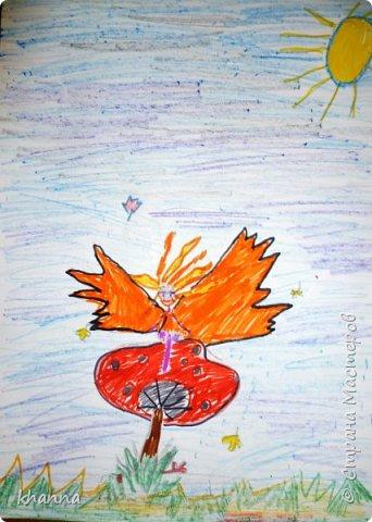 Осень - фея. Работа Кати, ученицы 2 класса фото 3