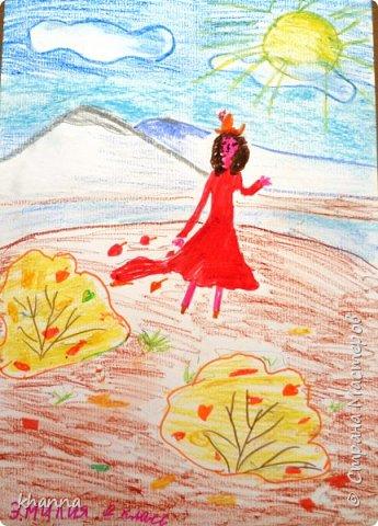 Осень - фея. Работа Кати, ученицы 2 класса фото 4