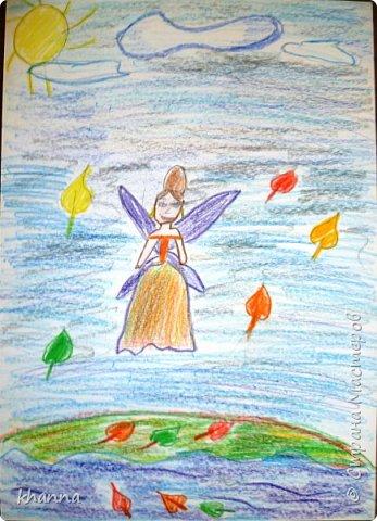 Осень - фея. Работа Кати, ученицы 2 класса фото 1