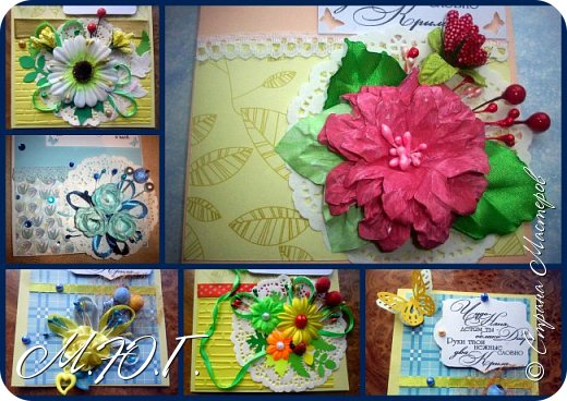 Вдохновилась я шикарными открыточками Светланы http://stranamasterov.ru/user/108671 и наштамповала своих кучку))))всего 8 штучек фото 10