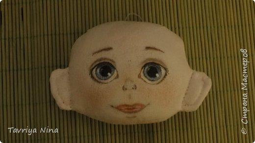 Для этой куклы я сделала два варианта головы,т.к. первый не соответствовал ей по размерам туловища.  фото 11