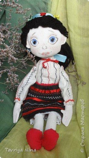 Для этой куклы я сделала два варианта головы,т.к. первый не соответствовал ей по размерам туловища.  фото 1