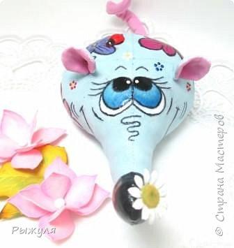 """Всем доброго времени суток!!!!  У меня начался творческий сезон!!!! Начала с игрушек)))) Вот такая мышка """"Цветулька"""" фото 2"""