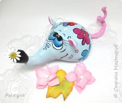 """Всем доброго времени суток!!!!  У меня начался творческий сезон!!!! Начала с игрушек)))) Вот такая мышка """"Цветулька"""""""