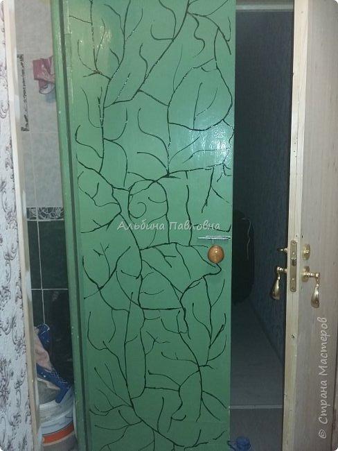 Вот такая потрескавшаяся дверь мне досталась.  фото 3
