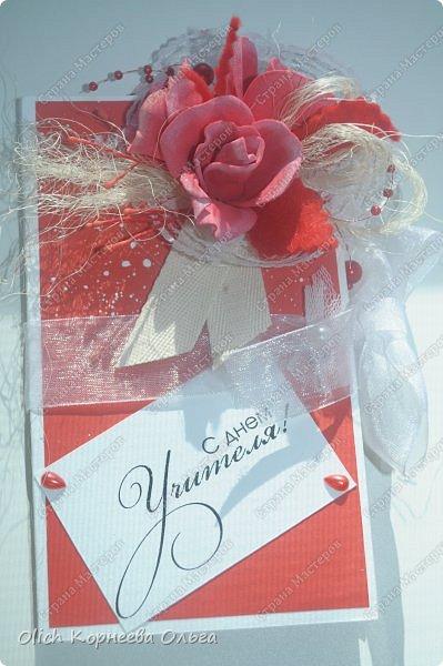 Шоколадницы на день учителя. Открываются книжкой. Основа - плотная бумага для акварели. Для декора использовала цветную бумагу, ленты, полубусины, кружево, фетр, салфетку, тычинки. Бутончики сделаны из фоамирана. фото 23