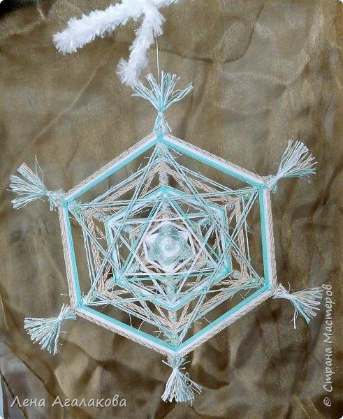Добрый всем день или вечер ! Наплелись у меня снежинки-мандалы, скоро уже не за горами Новый год и Рождество! фото 6