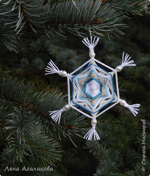 Добрый всем день или вечер ! Наплелись у меня снежинки-мандалы, скоро уже не за горами Новый год и Рождество! фото 5