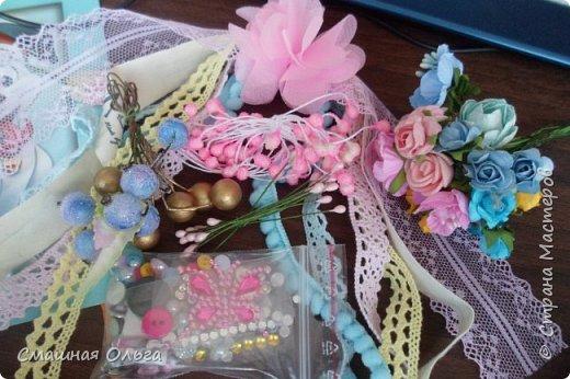 Приветик! Вчера получила посылочку по ПИФ- игре от Надежды http://stranamasterov.ru/user/413073 Сколько красоты прислала для меня Наденька, за что я ей очень благодарна! Смотрим! Красивущая рамочка для фото, она замечательная и такая нежная, ленточки, цветочки, книжечка для моего сынишки, мылко, вкусненькие конфетки и много мелкого декора. Все такое шебби-нежное и очень нужное! Спасибо Наденька, что взяла меня к себе в ПИФочки, я очень довольна!  фото 3