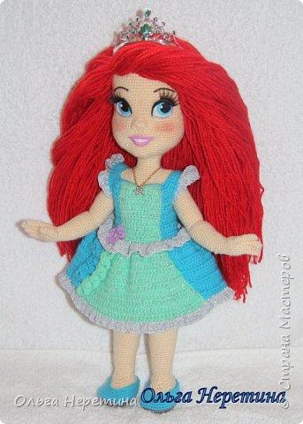 Куколка Ариэль с набором одежды (связана крючком) фото 2