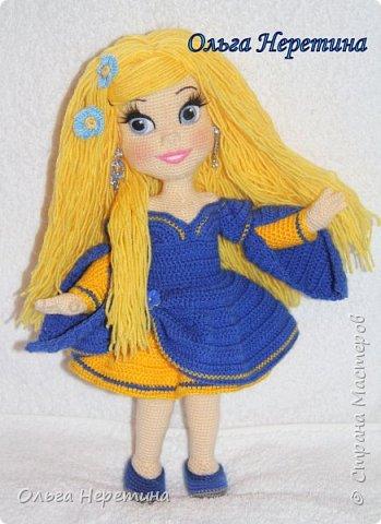Куколка Аврора с набором одежды (связана крючком)  фото 2