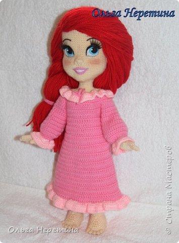 Куколка Ариэль с набором одежды (связана крючком) фото 3