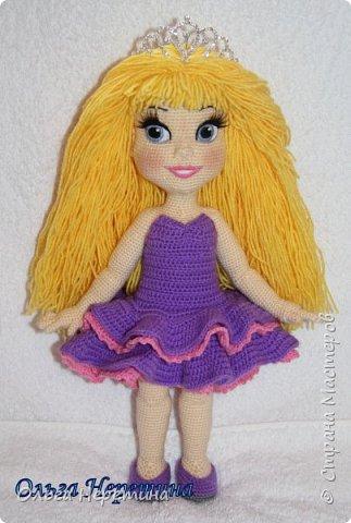 Куколка Аврора с набором одежды (связана крючком)  фото 5