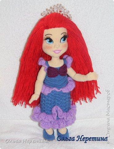 Куколка Ариэль с набором одежды (связана крючком) фото 4