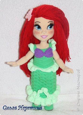 Куколка Ариэль с набором одежды (связана крючком) фото 5