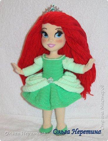 Куколка Ариэль с набором одежды (связана крючком) фото 6