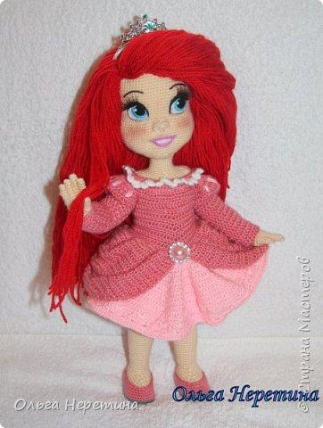 Куколка Ариэль с набором одежды (связана крючком) фото 7