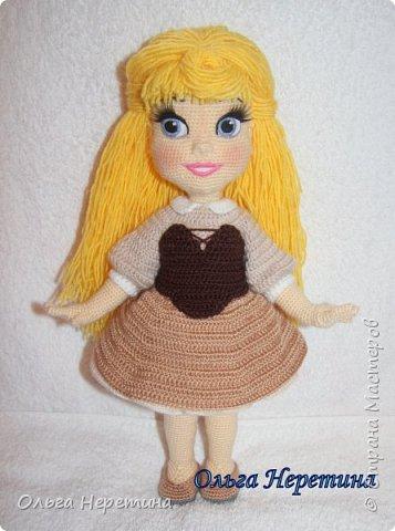 Куколка Аврора с набором одежды (связана крючком)  фото 7