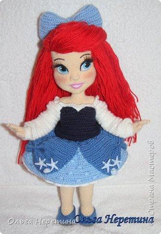 Куколка Ариэль с набором одежды (связана крючком) фото 8