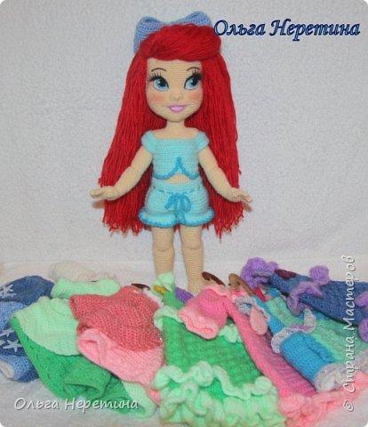 Куколка Ариэль с набором одежды (связана крючком) фото 10