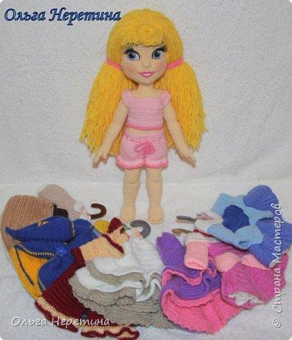 Куколка Аврора с набором одежды (связана крючком)  фото 9