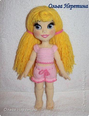Куколка Аврора с набором одежды (связана крючком)  фото 8