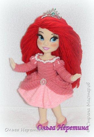 Куколка Ариэль с набором одежды (связана крючком) фото 1