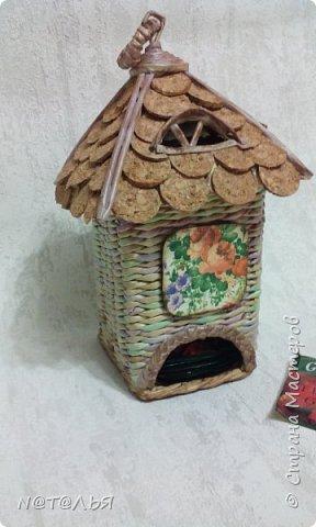Здравствуйте, жители СМ! Очень нравятся мне чайные домики Светланы Дедович. Попробовала, вышла вот эта кракозябра. Я все равно довольна, буду еще пробовать. фото 2