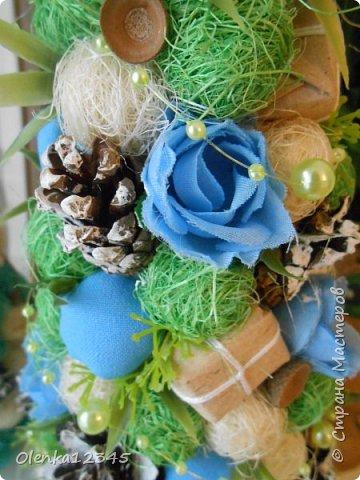 Всем здравствуйте. В компанию к моей первой бирюзовой ёлочке сотворилась вот такая зелено-голубая красавица. фото 2