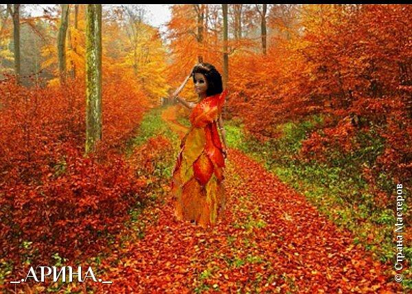 """Привет дорогая страна мастеров! Сегодня мы пришли с работой на конкурс, тема которого: """"Королева"""". Валерич сегодня в образе королевы леса. Она охраняет этот лес от всяких бед (пожары, вырубка). Все животные, обитающие в этом лесу, слушаются и подчиняются Валерии. фото 4"""